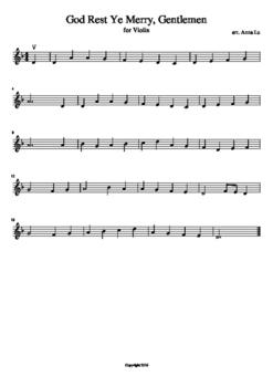 10 Popular Christmas Carols - Violin