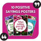 10 Positive Sayings Posters for Middle and High School Bul