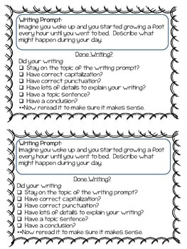 10 Practice Perfect Writing Prompts