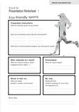 10 Presentation Preparation Sheets