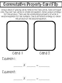 10 Print and Go Math Games: Properties of Multiplication Games