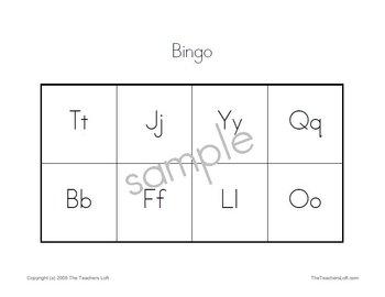 10 Printable Bingo Games - PreK - K Math Reading Skills