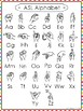 10 Printable Colored Border ASL Alphabet Wall Chart Posters.