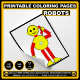 10 Printable Coloring Pages of ROBOTS