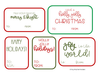 photograph about 12 Days of Christmas Printable Tags named 10 Printable Family vacation Present Tags - 12 Times of Xmas