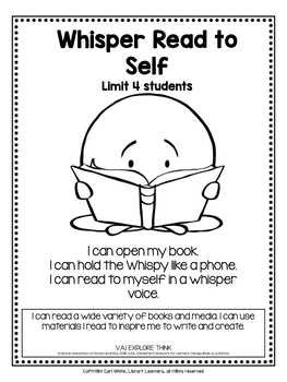 10 Printable Library Center Signs