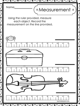 10 Printable Measuring With A Ruler Worksheets ...