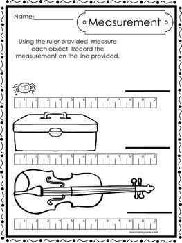 10 printable measuring with a ruler worksheets kindergarten 1st grade math. Black Bedroom Furniture Sets. Home Design Ideas