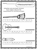 10 Printable Measuring With A Ruler Worksheets. Kindergart