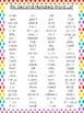 10 Printable Rainbow Border Fry Sight Word Wall Chart Posters.