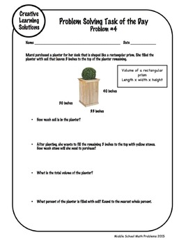 10 Problem Solving Activities for Middle School Geometry