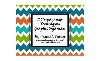 10 Propaganda Techniques Graphic Organizer
