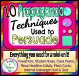 10 Propaganda Techniques Mini-Unit, Secondary Education