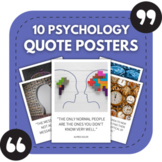 10 Psychology Posters - Quotes About Psychology for Bullet