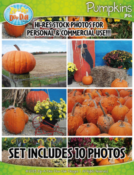 10 Pumpkins Stock Photos Pack — Includes Commercial License!