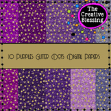 10 Purples Glitter Digital Papers