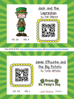 QR Codes:  10 St. Patrick's Day Read Alongs
