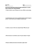 10 Question Density Quiz
