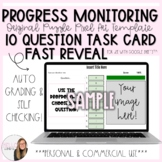 10 Question Fast Reveal Progress Monitoring Task Card Puzz