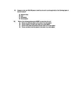 10 Question Multiple Choice Quiz - The Sun