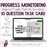 10 Question Progress Monitoring Task Card Puzzle Pixel Template