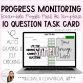 10 Question Progress Monitoring Task Card Scramble Puzzle