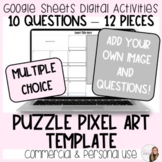 10 Question Puzzle Pixel Art Template for Commercial and P