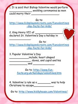 Valentine's Day Web Quest