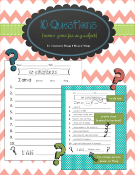 10 Questions {A Review Game For Any Subject}