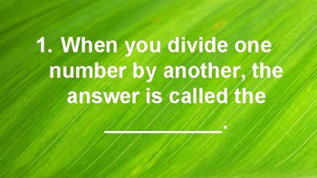 10 Questions About Division