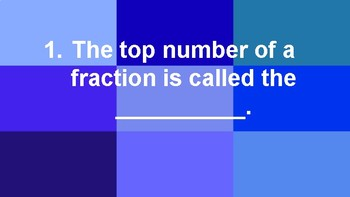 10 Questions about Fractions