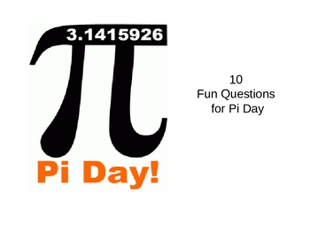 10 Questions for Pi Day