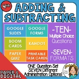 10 Questions over Adding & Subtracting -Multiple Formats f