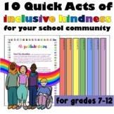 Free #kindnessnation #weholdthesetruths 10 Acts of Kindness for Your School
