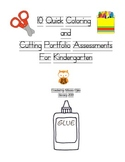 10 Quick Coloring and Cutting Portfolio Assessments For Ki