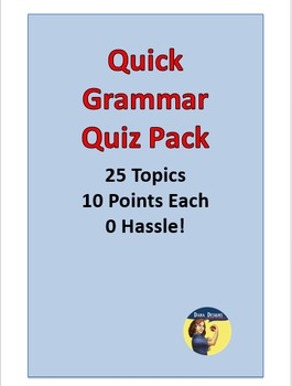 25 Quick Grammar Quizzes - No Hassle Assessments