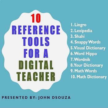10 REFERENCE TOOLS FOR A DIGITAL TEACHER
