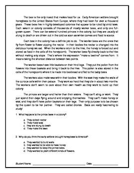 10 Reading Comprehension - Grade 3 (Progress Monitoring)