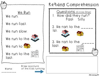 Reading Comprehension Passages with Questions (No PREP)