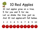 10 Red Apples Poem and Pocket Chart Activities