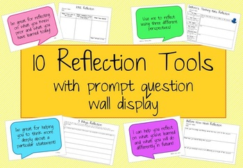 10 Reflection Tools with prompt questions