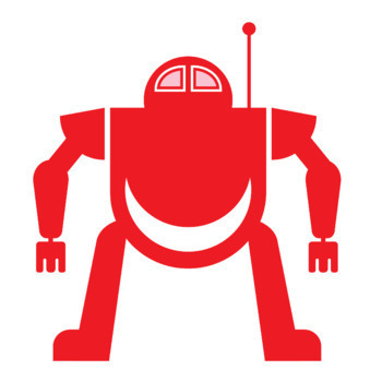 10 Robots clip art: group 1 of 10