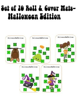 10  Roll and Cover Halloween mats