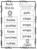 10 Root Words Printable Worksheets in PDF file. KDG-2nd Gr