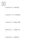 10 Rounds of Functions (Equations, Graphs, and Tables) + A