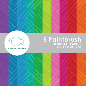 10 S Paintbrush Pattern Digital Papers