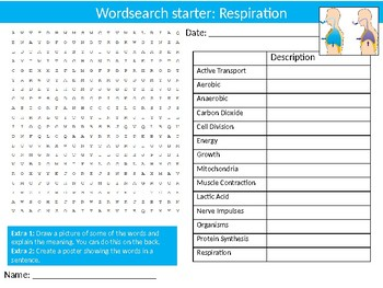 10 Science Biology Wordsearch Puzzle Starter Activities Keyword
