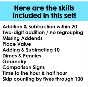 12 Scoot Games for 1st & 2nd Grade Math