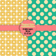 10 Seamless Tropical Color Digital Papers, Polka Dot, Heart