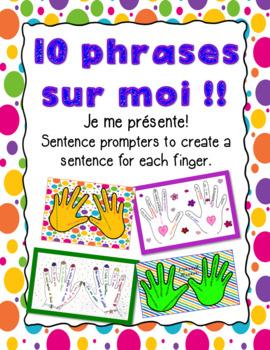 10 Phrases sur moi - Activité pour la rentrée - French back-to-school activity
